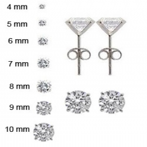 4mm 5mm 6mm 7mm 8mm And 10mm Round Cz Stud