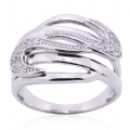 White CZ Sterling Silver Setting Women's Ring 925 Silver