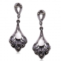 925 Sterling Silver Marcasite Earrings