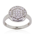 White CZ Micro seting Ring 925 Silver