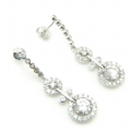 925 Silver Fancy CZ Dangle Earring