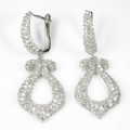 Drop Earrings 925 Sterling Silver Cubic Zirconia