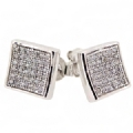 925 Silver CZ MIcro seting Stud Earrings