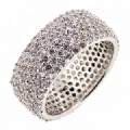 Eternity Band ring 925 sterling silver 6 rows cz