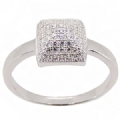 925 Sterling Silver Squire Ring Micro pave setting