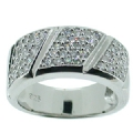 Eternity Band ring in Sterling Silver CZ Stone