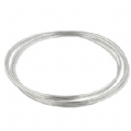 Sterling Silver 1.5mm Five Interlock Bangle Set
