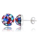 Disco Swarovski Crystal Half ball Earring