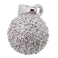 Ball Pendant in 925 sterling silver clear CZ
