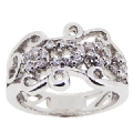 925 Sterling Silver Clear CZ Stone Woman's  Ring